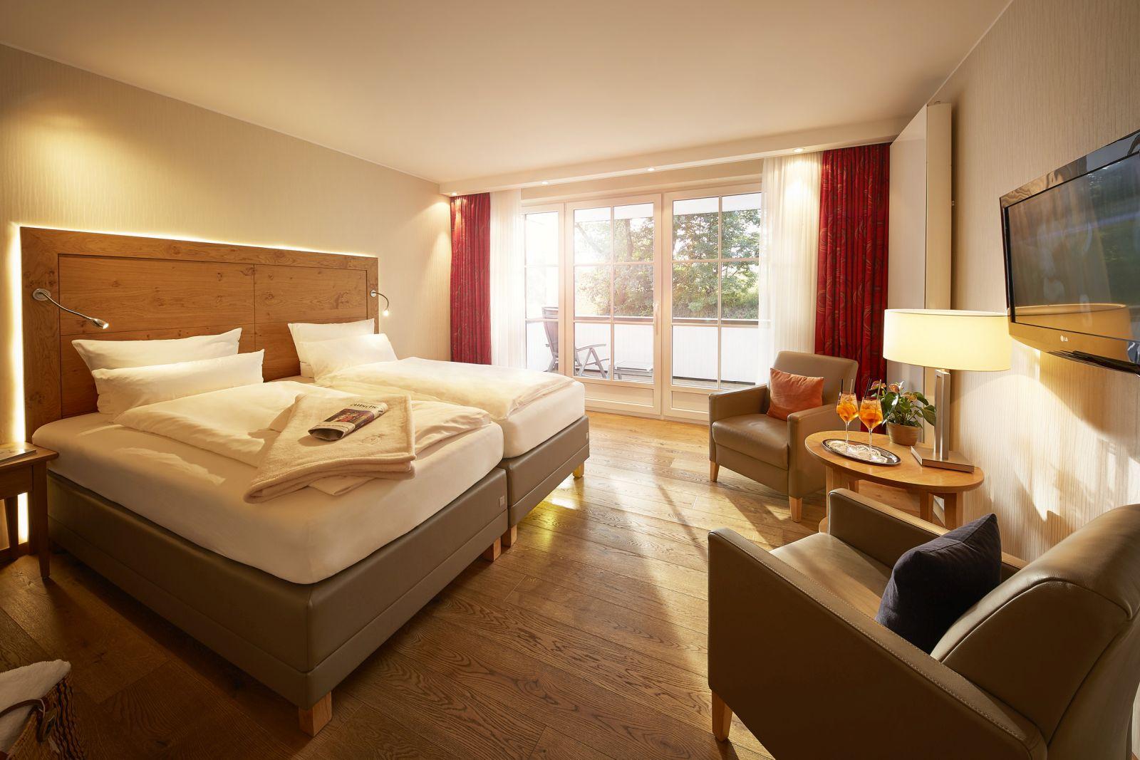 sonnendurchflutetes Doppelzimmer im Hotel Deimann