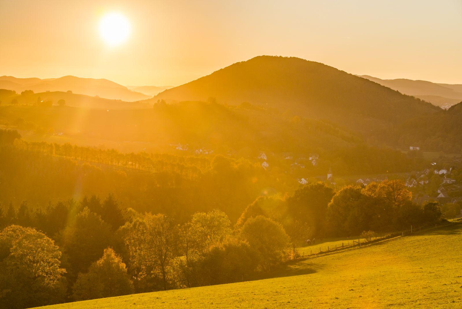 Goldener Herbst - Sonnenuntergang